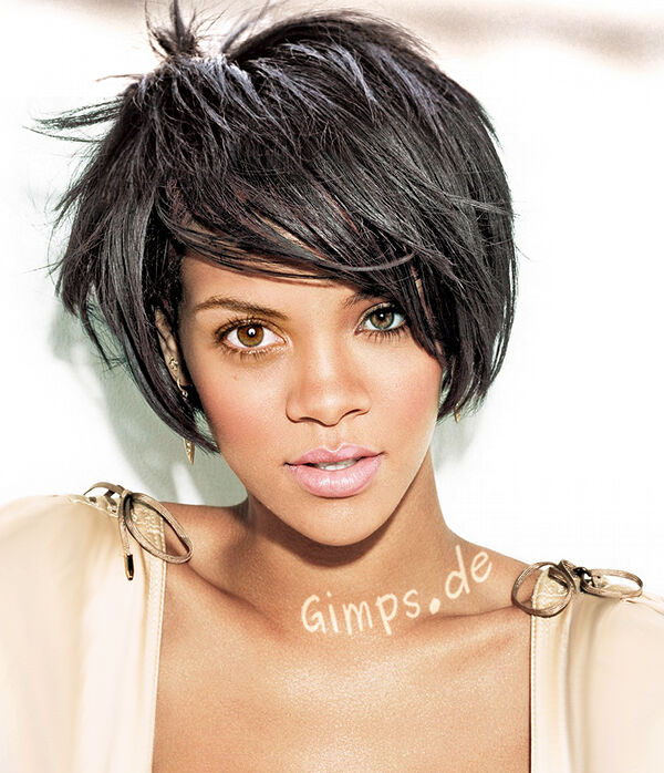 rihanna short hair back. Short Black Hair Styles for
